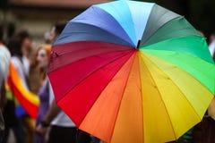 Gay pride sulle vie Immagini Stock