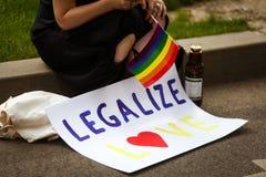Gay pride sulle vie Immagine Stock Libera da Diritti