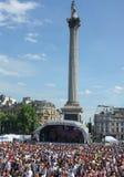 Gay Pride Trafalgar Square 2013 de Londres Imágenes de archivo libres de regalías