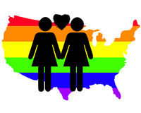 Gay Pride in the US. Same Sex Marriage in the US Royalty Free Stock Image