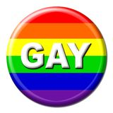 Gay rainbow button Royalty Free Stock Photos