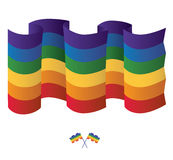 Gay Rainbow flag. Vector Royalty Free Stock Image