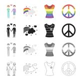 Gay related icon set Royalty Free Stock Image