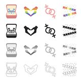 Gay related icon set Royalty Free Stock Photography