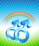 Gay Relationship Gender Symbols.  Stock Image