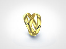 Gay ring. Gay marriage represented by two rings Royalty Free Stock Photography