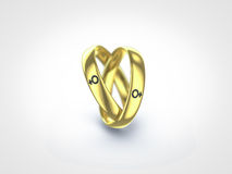 Gay ring. Gay marriage represented by pair of rings Stock Photo