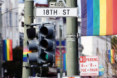 Gay Signs in San Francisco Stock Image