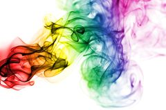 Gay smoke flag Royalty Free Stock Images