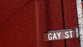 Gay street Royalty Free Stock Photos