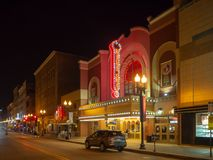 Gay Street, Knoxville, Tennessee, United States of America: [Night life in the center of Knoxville]. Gay Street, Knoxville, Tennessee, United States of America royalty free stock images