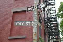 Gay Street, New York City. Gay Street is a small side street in New York City's bohemian Greenwich Village. It is a local tourist attraction Stock Images