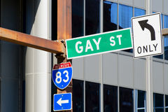 Gay Street Only sign Stock Photography