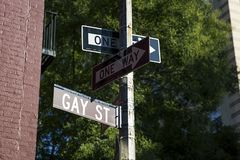 Gay Street sign Stock Photography