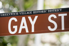 Gay Street Sign from Greenwich Village NYC Royalty Free Stock Photo