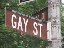 Gay street sign at New york city. Street sign of gay street at Manhattan stock photos