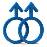 Gay symbol. Isolated on white background Royalty Free Stock Images