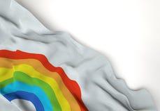 Gay symbol corrugated corner flag Stock Photography