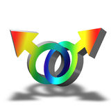 Gay Symbol. Illustration of a gay symbol with rainbow colors on white background vector illustration