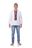 Gay in Ukrainian embroidered shirt Royalty Free Stock Photo