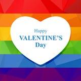 Gay valentines heart Royalty Free Stock Photos
