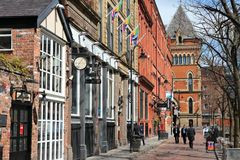 Gay Village, Manchester Royalty Free Stock Images