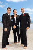 Gay Wedding. Two gay getting men getting married on a beach Royalty Free Stock Images