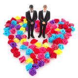 Gay wedding. In colorful concept Royalty Free Stock Images