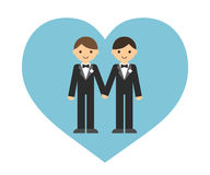 Gay wedding couple Royalty Free Stock Images