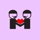 Gay wedding couple icons Royalty Free Stock Images
