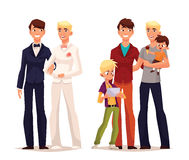 Gay wedding, couple man with a child Stock Photo