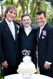 Gay Wedding Couple with Minister Stock Photography