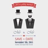 Gay Wedding Invitation Royalty Free Stock Image