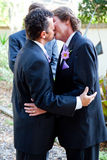 Gay Wedding Kiss Royalty Free Stock Photos