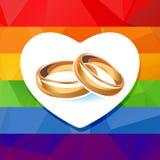 Gay wedding rings Royalty Free Stock Photos