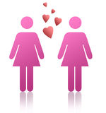 Gay women. As symbol figures Royalty Free Stock Images