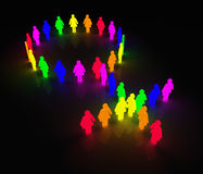 Gay-women_glow-symbol Stockfoto