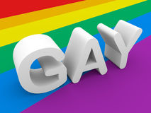 Gay word Royalty Free Stock Image