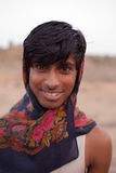 Gay young Indian man near Karauli in India Stock Photo