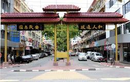 Gaya街在亚庇,沙巴,马来西亚 图库摄影