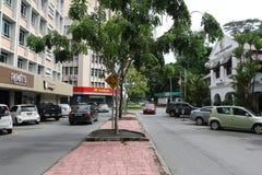 Gaya街道,亚庇沙巴婆罗洲 图库摄影