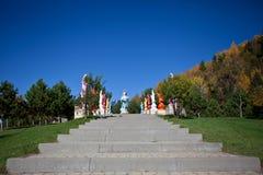 Gaya aleja w Wietnamskim monasterze Zdjęcie Stock