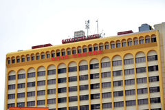 Gaya Centre Hotel Facade in Kota Kinabalu, Malaysia stockbilder