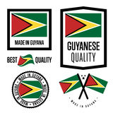 Gayana quality label set for goods Royalty Free Stock Image