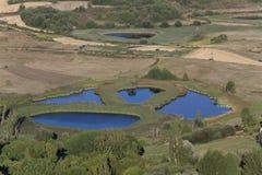 Gayangos lakes, Burgos fotografering för bildbyråer