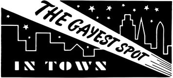 The Gayest Spot In Town 3 Stock Images
