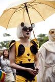 gaygay 2010夫人lgbt游行自豪感台湾 免版税库存图片