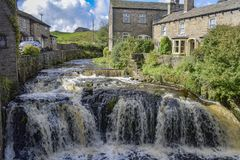 Gayle Beck, Hawes, North Yorkshire image stock