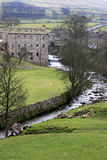 Gayle Mill. In North Yorkshire Englandl, constructed in 1776,  a scheduled monument and came third in the BBC's 2004 Restoration contest Royalty Free Stock Photos