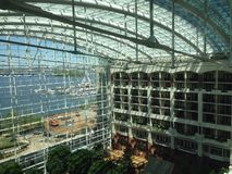 Gaylord National Harbor Balcony rooms. The view from the elevator at the Gaylord Stock Image